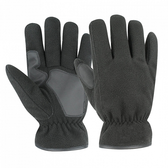 Black Fleece PVC Grip Glove