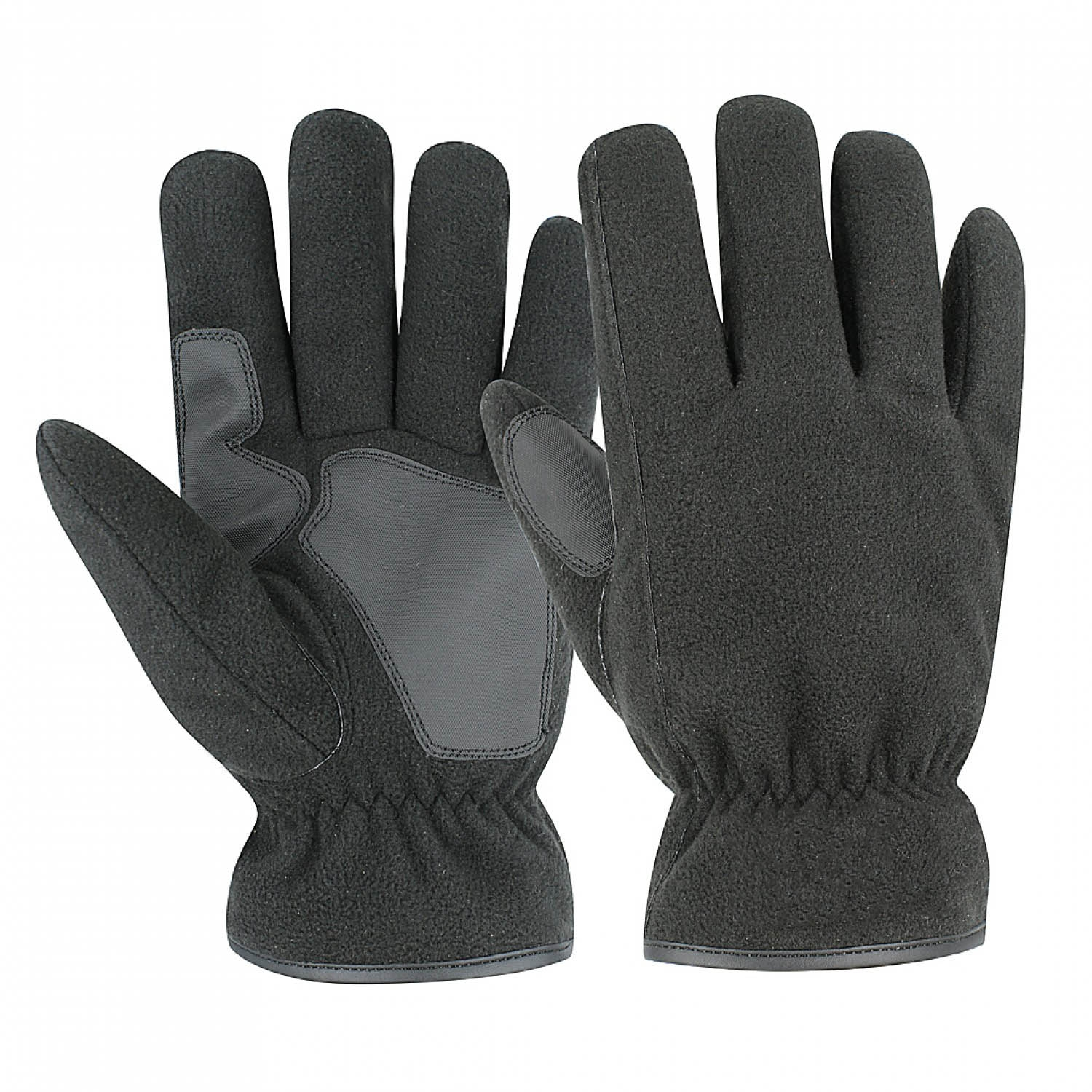 Black Fleece PVC Grip Glove