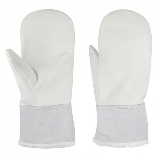 Leather Cuff Mitten Gloves