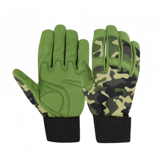 PVC Grip Camo Gloves